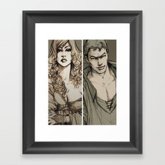 Lancelot and Guinevere Framed Art Print