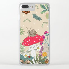 Toadstools in the Woods Clear iPhone Case