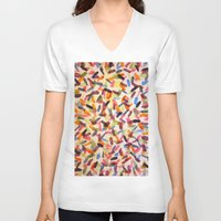 sprinkles V-neck T-shirts featuring Sprinkles by Rachel Butler