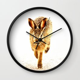 Wait For Me Guys! Hare running #decor #society6 Wall Clock