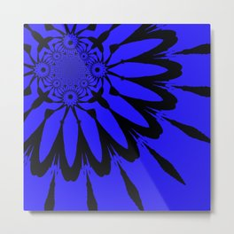 The modern flower Royal Blue Metal Print
