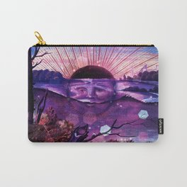 Black Sun Alchemy, Antique Alchemy Illustration Collage Carry-All Pouch
