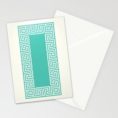 Greek Key turquoise Stationery Cards