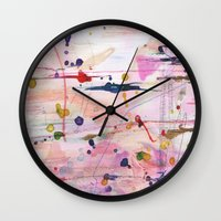 polka Wall Clocks featuring Polka by SaniQ