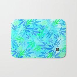 Blue Mint Cannabis Swirl Bath Mat