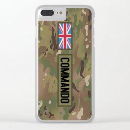 British Flag: Commando Clear iPhone Case