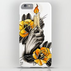 Hand holding CANDLE - tattoo iPhone 6 Plus Slim Case