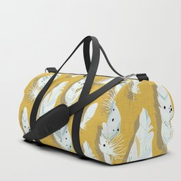 Feathers Mustard #homedecor Duffle Bag