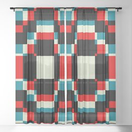 Minimal Abstract Sandman Sheer Curtain