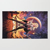 tim shumate Area & Throw Rugs featuring Barbarella Tim Hildebrandt by Cult Posters
