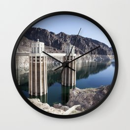 Hoover Dam Reflections Wall Clock