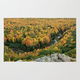 Autumn Colors at the Carp River Valley, Porcupine Mountains State Park, Upper Peninsula, MI Rug