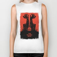 walking dead Biker Tanks featuring The Walking Dead. by David
