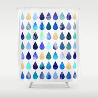 rain Shower Curtains featuring Rain by Elisabeth Fredriksson