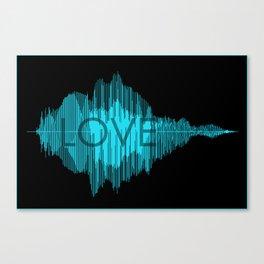 Love Blue  Canvas Print