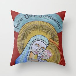 IVF Madonna and Child Throw Pillow