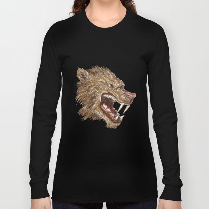 Head with sharp teeth Long Sleeve T-shirt