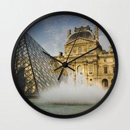 La fontaine du Louvre Wall Clock