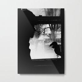Woman and Bird Chill jjhelene Metal Print