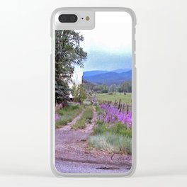 Dames Rocket Ranch by CheyAnne Sexton Clear iPhone Case