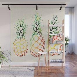 Burlap Pineapples Wall Mural