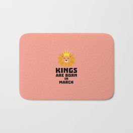 Kings are born in MARCH T-Shirt D3vec Bath Mat