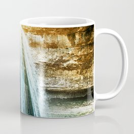 Big stalagmite waterfall rock formation beauty in nature in France Coffee Mug