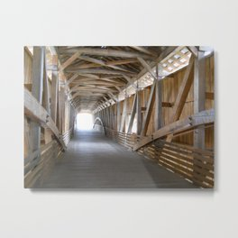 Bridgeton Covered Bridge Metal Print