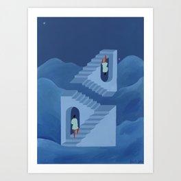 Different Ways to Climb & Unusual Paths Art Print