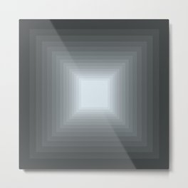Gray Square Gradient Metal Print