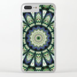 Opal and Alabaster Kaleidoscope Clear iPhone Case