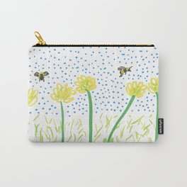 Honey Bees Love Flowers Carry-All Pouch