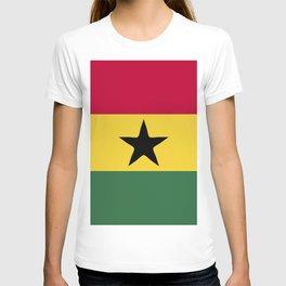 Ghana flag emblem T-shirt