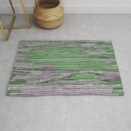 Green rustic wood Rug