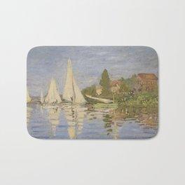 Claude Monet Regattas at Argenteuil Bath Mat