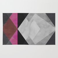 diamond Area & Throw Rugs featuring Diamond by Georgiana Paraschiv