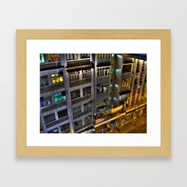 Street Photo - Old Building - HDR  Framed Art Print