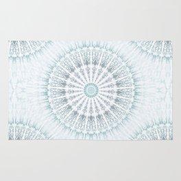 Teal Aqua Mandala Rug
