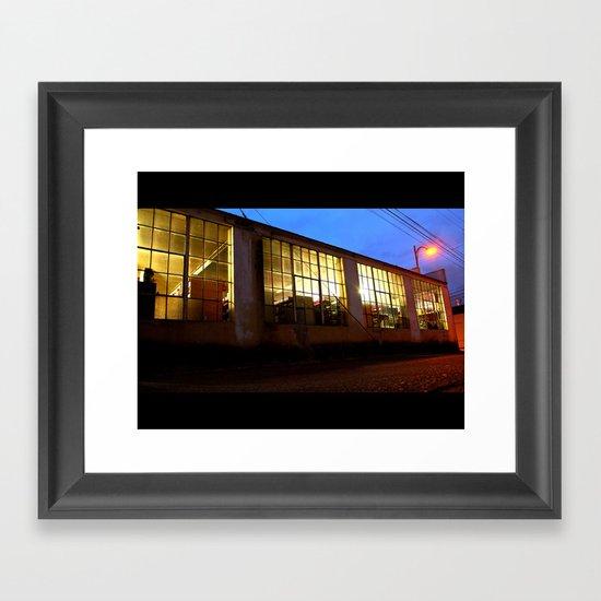 Windows at night Framed Art Print