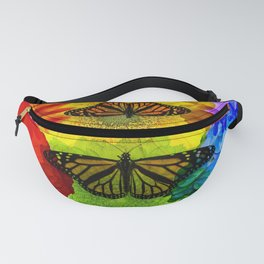 Rainbow Butterfly Fanny Pack