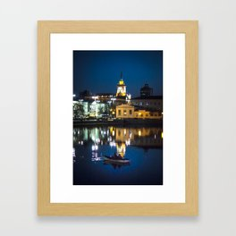 Night in the town Framed Art Print