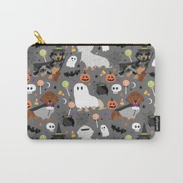 Dachshund dog breed halloween cute pattern doxie dachsie dog costumes Carry-All Pouch
