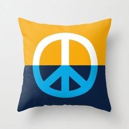 Peace Symbol - People's Flag of Milwaukee Throw Pillow