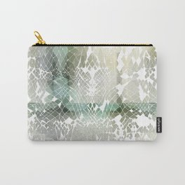 Fractured Silver Carry-All Pouch