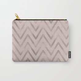 Mauve pink faux rose gold modern geometrical Carry-All Pouch