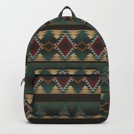 southwest stripe with horses Backpack