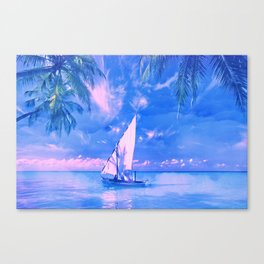 Tropical yachting Canvas Print
