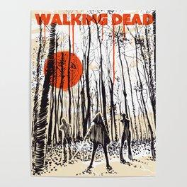 Walking dead Michonne art Poster