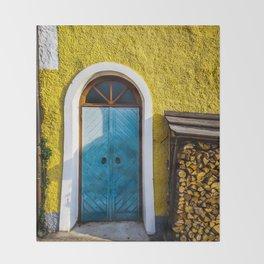 Blue Door Throw Blanket
