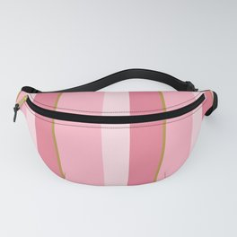 Pink Stripe Pattern Fanny Pack